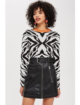 Zebra Skinny Top by Topshop