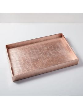 "Reclaimed Wood Lacquer Tray, 18""X 28"", Gold by West Elm"