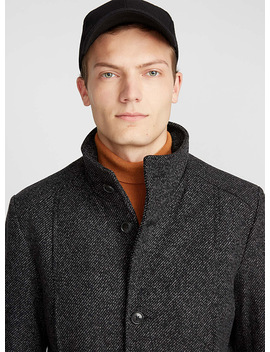Heathered Wool Coat by Selected