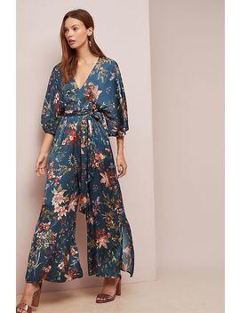 Floral Print Wrap Jumpsuit by D Ra