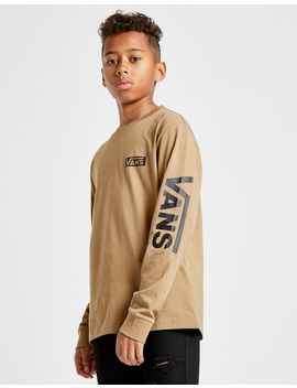 Vans Long Sleeve Logo T Shirt Junior by Vans