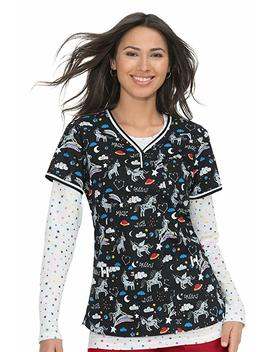 Koi Stretch Brea Women's Top Unicorn Dreams by Koi