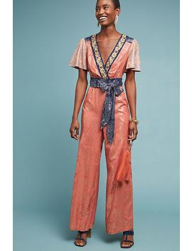 Emmy Embroidered Wrap Jumpsuit by Akemi + Kin