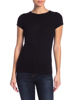 Solid Short Sleeve Cashmere Pullover by Catherine Catherine Malandrino