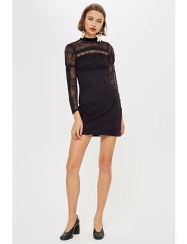 Petite Lace Trim Dress by Topshop