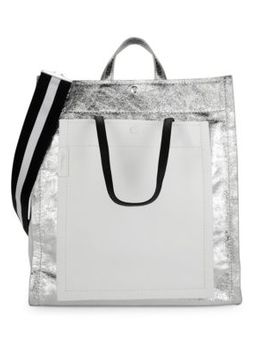 Metallic Accordion Shopper by 3.1 Phillip Lim