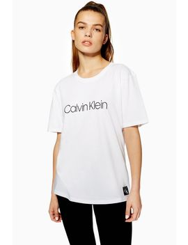 Crew Neck T Shirt By Calvin Klein by Topshop