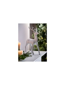 Two Tone Glitter Deer Ornament by Asda