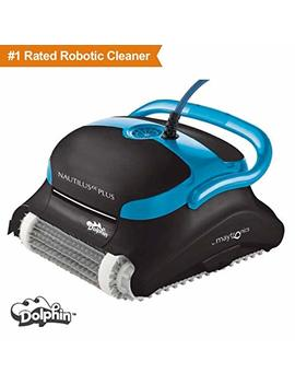 Dolphin Nautilus Cc Plus Robotic Pool Cleaner With Top Load Filter Cartridges Ideal For Pools Up To 50 Feet. by Dolphin