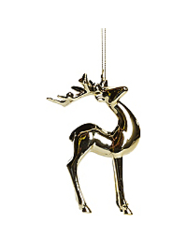 Gold Effect Reindeer Bauble by Asda