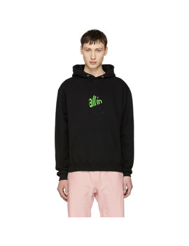 Ssense Exclusive Black & Green Signal Hoodie by All In