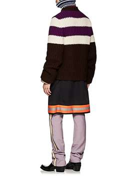 Striped Wool Mohair Oversized Sweater by Calvin Klein 205 W39 Nyc