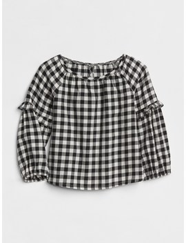 Plaid Ruffle Top by Gap