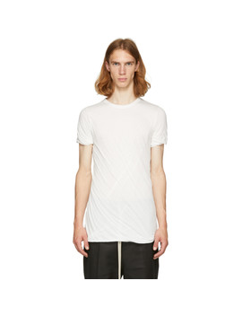 White Double T Shirt by Rick Owens