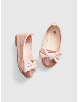 Velvet Bow Ballet Flats by Gap