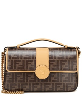 Double F Leather Shoulder Bag by Fendi