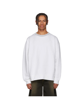 White Yana Crewneck Sweatshirt by Acne Studios
