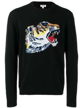 Wollpullover Mit Tiger Intarsienmotiv by Kenzo