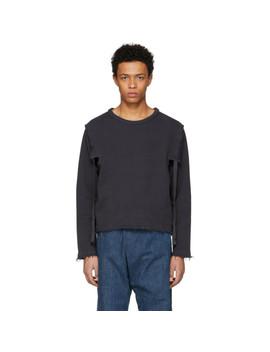 Grey Raw Edge Open Side Sweatshirt by Jw Anderson