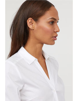 Skjorte Med V Udskæring by H&M