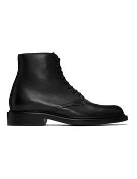 Black Army Ranger Ankle Boots by Saint Laurent
