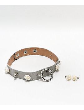 Stone + Locket Spikey Rose Choker & Earring 2 Pack by Stone + Locket