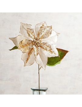White Faux Poinsettia Stem by Pier1 Imports