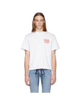 Ssense Exclusive White 'hardcore' T Shirt by Misbhv