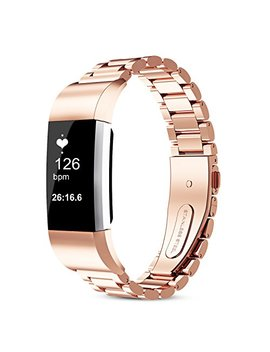 For Fitbit Charge 2 Band, 316 L Stainless Steel Replacement Accessory Bracelt Band.Small,Large Metal Bands For Fitbit Charge 2 Band/Charge 2 Bands/Fitbit Charge 2 by Wocool