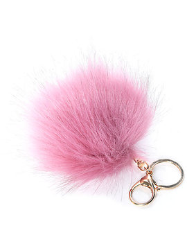 Mauve Fuzzy Bag Charm by Omg Accessories
