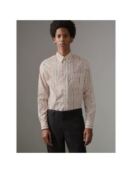Scribble Stripe Cotton Shirt by Burberry