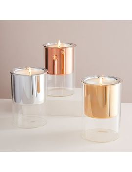 Floating Glass Candles by West Elm