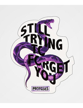 Broken Promises Forget You Snake Sticker by Broken Promises