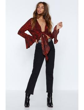 Deeper And Down Leopard Top by Nasty Gal