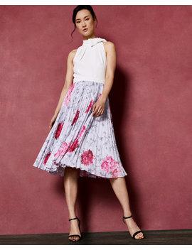 Babylon Pleated Skirt Dress by Ted Baker