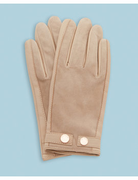 Suede Detail Leather Gloves by Ted Baker