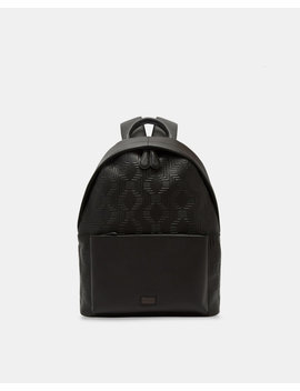 Embossed Leather Backpack by Ted Baker