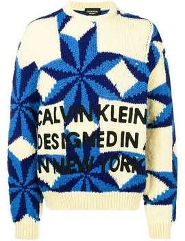 Wollpullover Mit Schneeflockenmuster by Calvin Klein 205 W39nyc