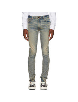 Indigo Stack Jeans by Amiri