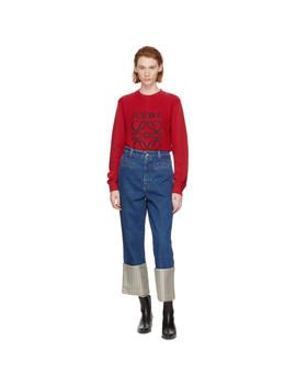 Blue Stripe Fisherman Jeans by Loewe
