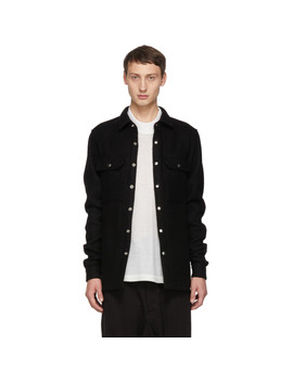 Black Outershirt Jacket by Rick Owens