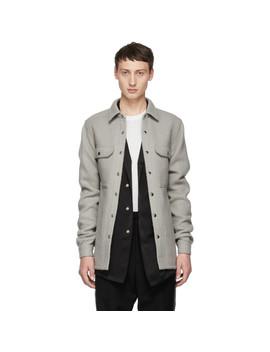 Grey Outershirt Jacket by Rick Owens