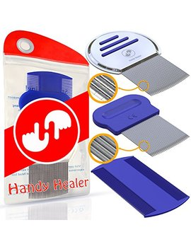 Head Lice Comb Set For Fast Nit And Lice Treatment   Best Results On All Different Types Of Hair From Handy Healer. by Handy Healer