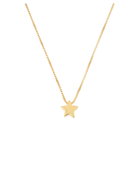 Star Gold Plated Necklace by Olivar Bonas