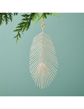 Glitter Feather Ornament by West Elm