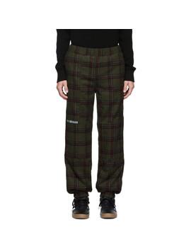 Green Tweed Check Lounge Pants by Han Kjobenhavn