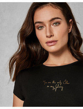'Only Star' Fitted T Shirt by Ted Baker