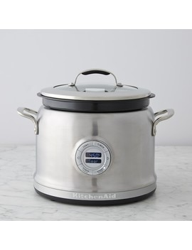 Kitchen Aid® 4 Qt. Stainless Steel Multi Cooker With Steam/Roast Rack by Williams   Sonoma