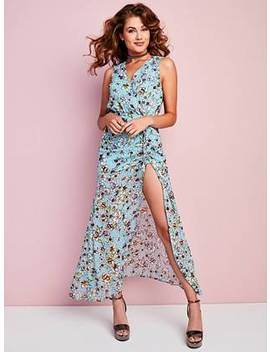 Nadira Ruched Floral Maxi Dress by Guess