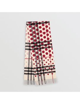 The Classic Heart Check Cashmere Scarf by Burberry